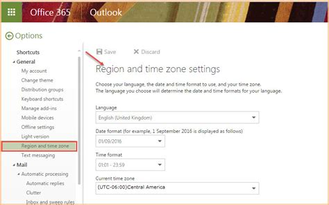 Office 365 Portal Timezone How To Change Region And Time Zone In Office 365 Office