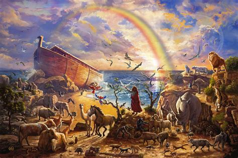 noah s noah s ark zac kinkade limited edition art thomas