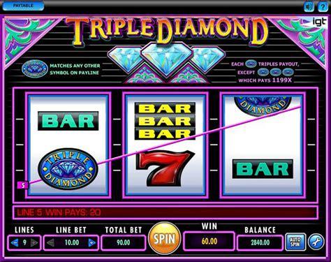 triple diamond slot machine play  igt  slots