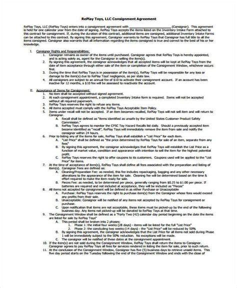 sle contract forms