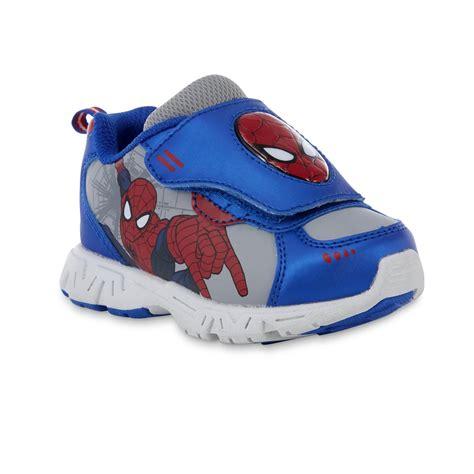 Spiderman Light Up Shoes Marvel Toddler Boys Spider Man Blue Light Up Athletic Shoe