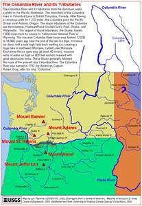 columbia river canada map the volcanoes of lewis and clark the columbia river and