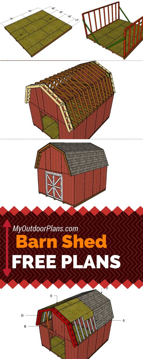 14x16 gambrel shed plans 14x16 barn shed plans free barn shed plans learn how to build a 14x16 gambrel