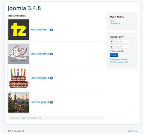 change category blog layout joomla 3 how to create a joomla category list with images