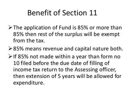 section 11 12 of income tax act ppt for taxation non profit organisation