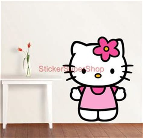 hello kitty removable wallpaper choose size hello kitty decal removable wall sticker