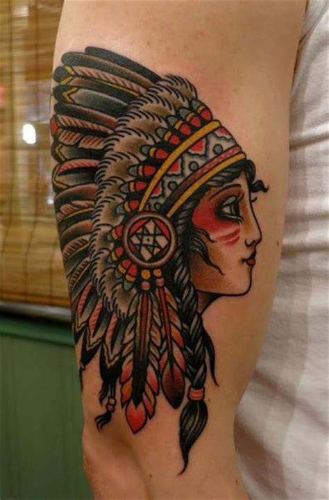 old school tattoo indian girl tatouage bras old school indien par paul anthony dobleman