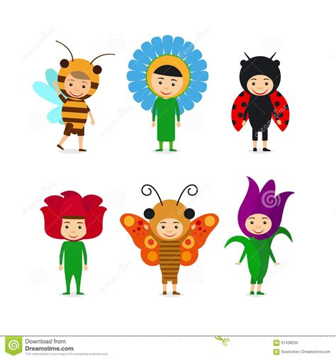 fancy dressed animals a collection of illustrations books in insect and flower dresses stock vector image