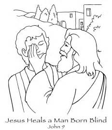 Bible Craft For Healing The Blind free coloring pages printable jesus heals the blind