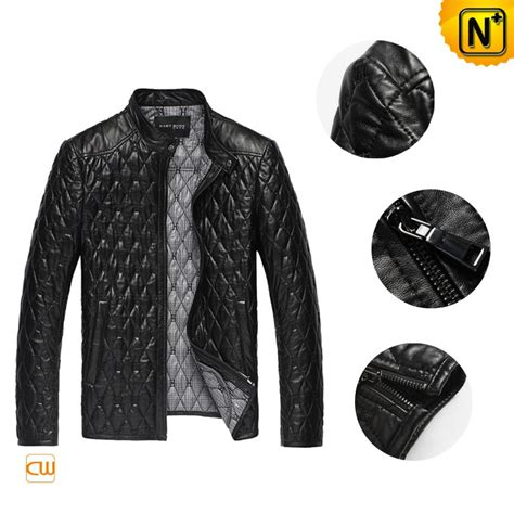Mens Quilted Leather Jacket by S Embroidery Quilted Leather Jacket Cw821001 Cwmalls
