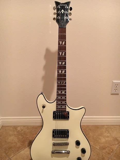 Gitar Shecter Syn Series 1 schecter series custom electric guitar white reverb