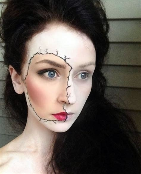 creepy broken doll hair makeup and costume tutorial 12 halloween makeup looks that won t give you nightmares