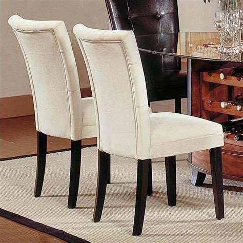 Dining Room Parson Chairs Steve Silver Company Matinee Fabric Parson Dining Chair In Beige Mt200be