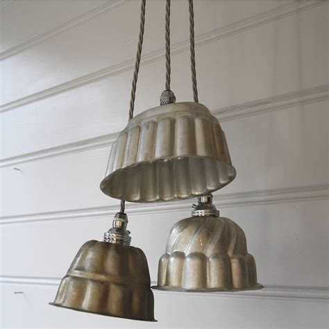 Vintage Kitchen Pendant Lights Vintage Jelly Mould Pendant Lights By Folly Glee Notonthehighstreet