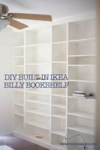 Low Wide Bookcase Diy Ikea Billy Bookcase Built In Bookshelves Part 2 Run