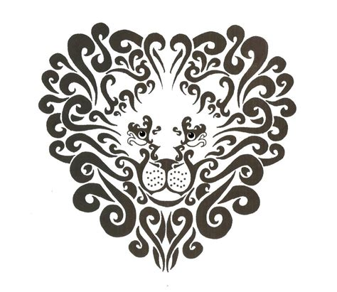 tribal lion head tattoo tribal crown designs