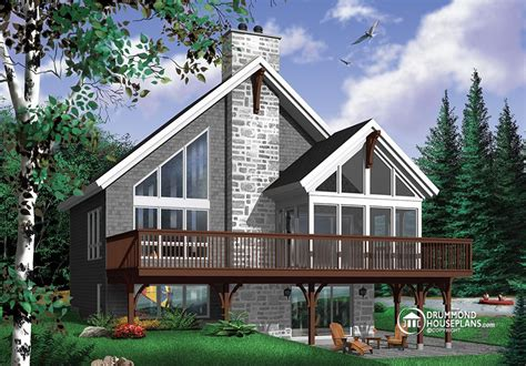 chalet cabin plans 2018 a popular rustic chalet house plan with mezzanine drummond house plans