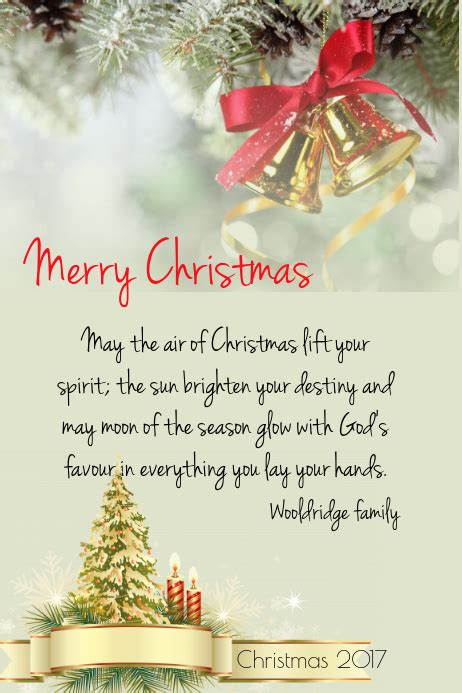 merry christmas card template postermywall