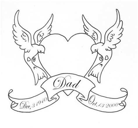 free tattoo outline designs outline swallows birds with banner design