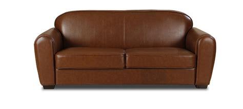 canape en cuir marron canap 233 3 places simili cuir marron