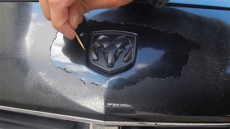 plasti dip jeep emblem how to remove plasti dip perfectly around a car emblem