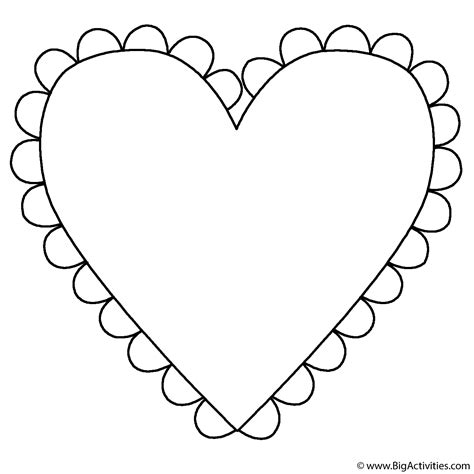 clipart heart coloring page heart with fringe coloring page mother s day