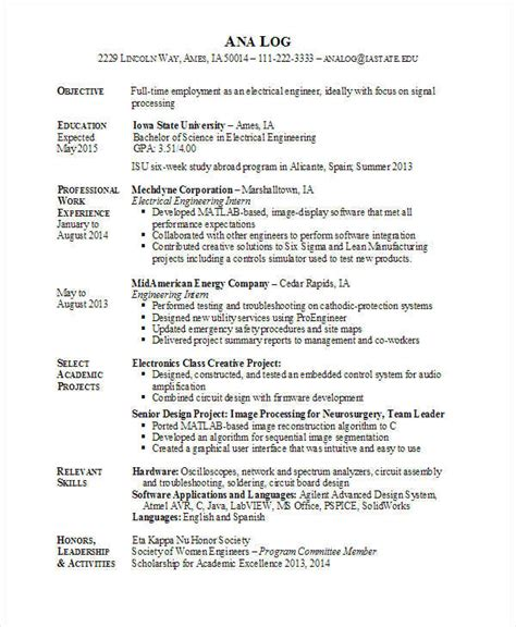Electrical Engineer Resume by 25 Best Engineering Resume Templates Pdf Doc Free