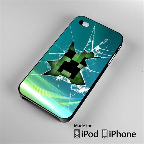 Minecraft Creeper Iphone 4 4s 5 5s 5c 6 6s Plus minecraft creeper glass broken a0100 from boatlion i need