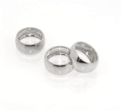 technibond polished band ring platinum clad sterling
