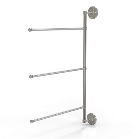 triple swing arm towel bar barclay products berlin 28 in double towel bar in brushed