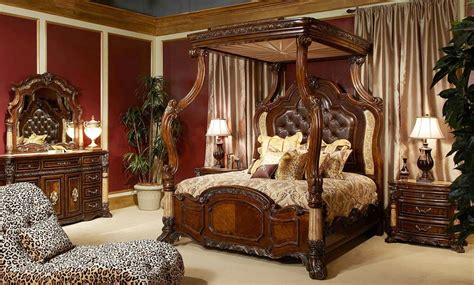 palace canopy bedroom set by michael amini