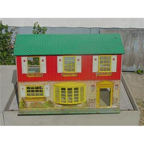metal doll houses wolverine tin litho doll house metal dollhouse 916566