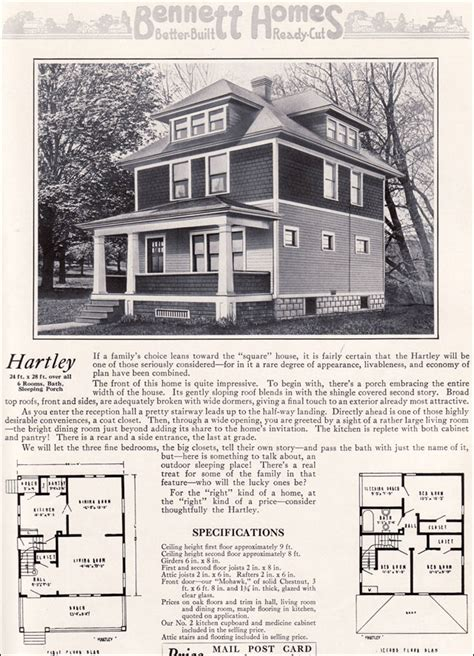 foursquare floor plans ameerican foursquare the hartley 1922 bennett homes