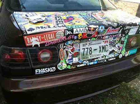 How To Sticker Bomb Car Interior Buy Used 2000 Honda Civic Ex Sticker Bomb One Of A Kind