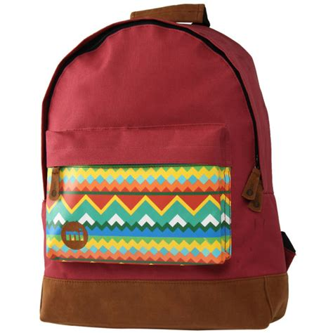 64 pattern rucksack frame mi pac navajo backpack red mens accessories thehut com