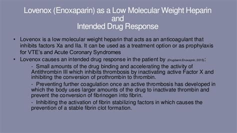 Venous thromboembolisms and lovenox Lovenox In Pregnancy