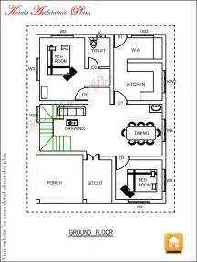 3 Bedroom House Floor Plans by Three Bedroom House Plan Architecture Kerala