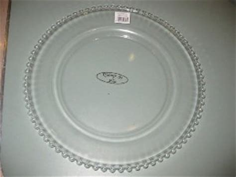 clear beaded charger plates chargeit by clear beaded glass charger