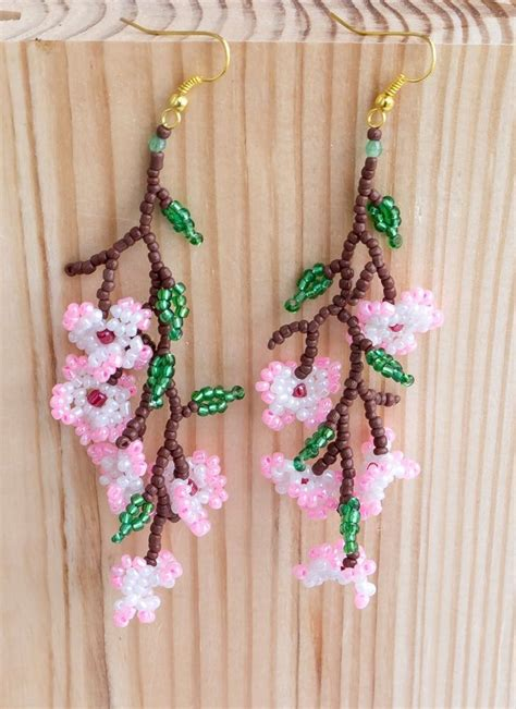 Bead Your Own Sassy Earrings Or Someone Do It For You Either Way Its Your Choice At Designer Fashiontribes Fashion by 17 Best Ideas About Beaded Flowers Patterns On