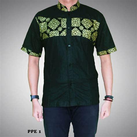 kemeja batik pria kombinasi prada kode ppe 1 batik prasetyo