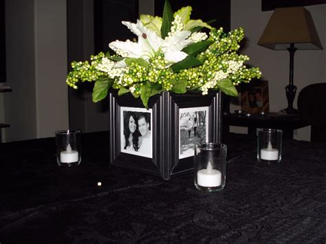 centerpieces with photos inspirations of wedded bliss centrepieces