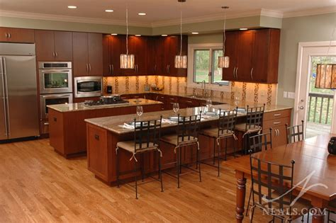 kitchen with island and peninsula islands and peninsulas in the kitchen