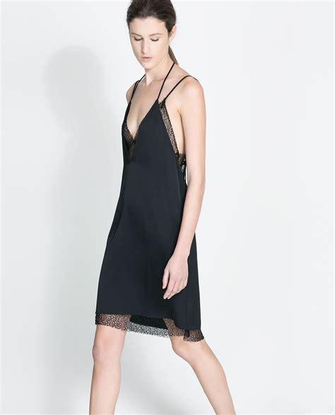 zara ropa interior zara woman studio mesh dress vestidos pinterest