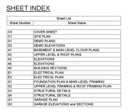 architectural drawing sheet numbering standard how to create a sheet index in revit 2013 evstudio
