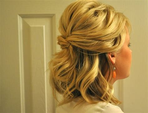 medium length hairstyles for maid of honor hairstyles for curly hair half up half down prom