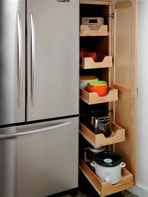 pull out kitchen storage ideas pullout pantry shelving solutions hgtv