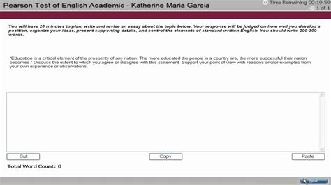 Essay Writing Tutorial by Pte Academic Test Tutorial Writing 2