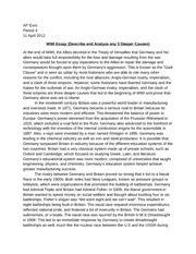 World War 1 Essay Dbq by World War 1 Essay