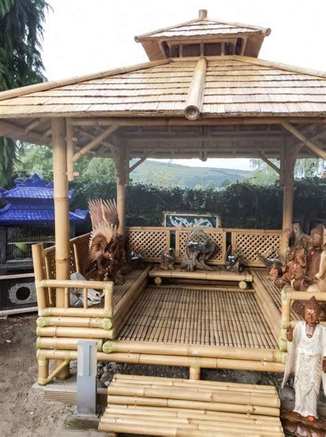 pavillon 2 50 x 4 pavillon bambus gazebo teich bamboo 2 50 m x 2 50 m