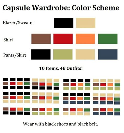 matching color schemes capsule wardrobe perfect mix match color scheme for